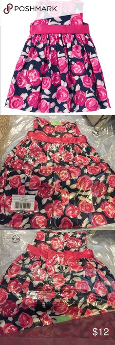 Gymboree Toddler Girl dress BWT, still in bag it was shipped in!! Beautiful dress for holidays or special occasion. DD has so many clothes she never got to wear it. $12 firm. No longer available online or in store.   100% cotton chintz poplin Buttons in back Permanent grosgrain ribbon belt and bow Fully lined with tulle underlayer for extra flounce Approximately knee length Includes diaper cover Machine wash; imported Collection Name: Pups & Bunnies Gymboree Dresses