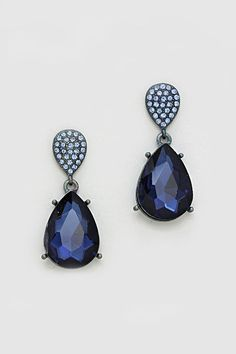 Crystal Vienna Earrings in Sapphire