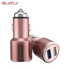 Universal Car Charger Mobile Phone Mini Dual USB Quick Charging 3.0 Aluminum Alloy Adapter For iPhone Samsung Huawei Xiaomi