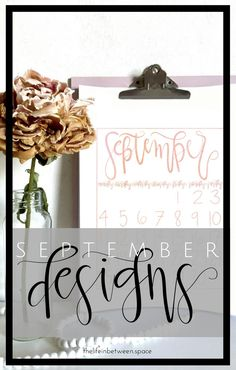 Hand Lettering For Beginners, Hand Lettering Tutorial, September Calendar, Hand Lettering Alphabet, Choose Love, Printable Letters, Flourishes, Design Shop, Lifestyle Blog