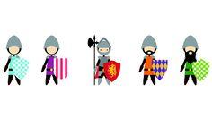 Knights collection | Digital illustration | FourteenFifteen Design and Creative   Ask.fourteenfifteen@gmail.com