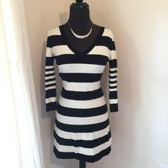Black And White Sweater Dress (H&M)