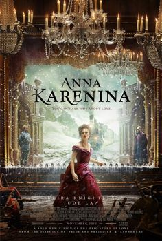 Anna Karenina is a 2012 British romantic drama film directed by Joe Wright and adapted by Tom Stoppard from Leo Tolstoy's 1877 novel of the same name. The film depicts the tragedy of married Russian aristocrat and socialite Anna Karenina and her affair with the affluent Count Vronsky.