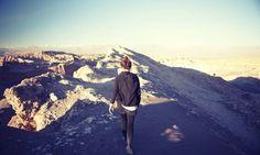 Victoria walking the ridge, Valle de la Luna, San Pedro de Atacama tour
