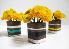 Durable DIY Modern Concrete Bud Vases