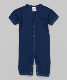 Loving this Midnight Blue Playsuit by Luca Chalres on #zulily! #zulilyfinds The fabric is so soft and amazing!