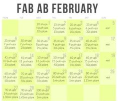 Fab Ab February....wish I knew where this was from, I wonder what the other months are like??