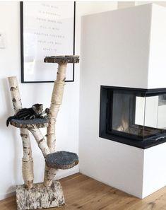 Natuurlijke krabpalen. www.decoratietakken.nl Cat Tree House, Diy Cat Tree, Cat Perch, Cat Shelves, Cat Playground, Cat Room, Pet Furniture, Cat Accessories, Scratching Post