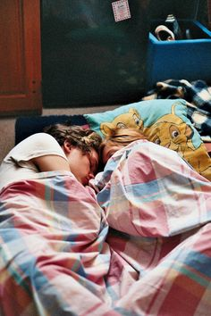 I want this...just falling asleep together after watching old movies. Sleeping together in the literal sense, that's all.