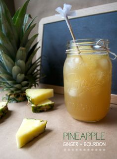 pineapple + ginger ale + bourbon