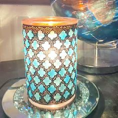 Crafted with stained-glass tiles in serene, coastal blues, Marrakesh ups the wow factor with tiny glass beads embedded in the grout that transform into brilliant points of light. Scentsy Uk, Glass Tiles, Wow Factor, Cozy Corner, Marrakesh, Grout, Wow Products, Fragrances, Stained Glass