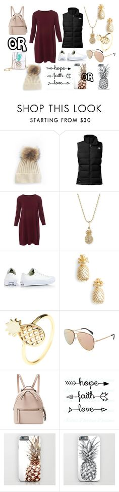 """""""pineapple"""" by otayfashion ❤ liked on Polyvore featuring The North Face, Repeat, Sydney Evan, Converse, Estella Bartlett, Latelita, CÉLINE and Fendi"""