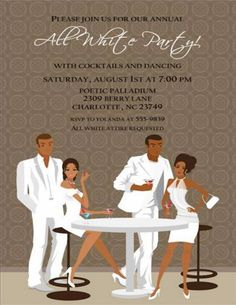 all white party invitation white birthday by announceitfavors, Party invitations
