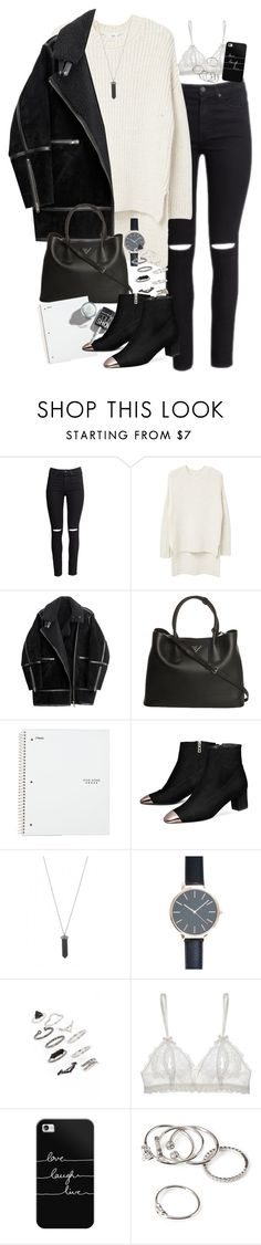 """""""Untitled #3465"""" by peachv ❤ liked on Polyvore featuring H&M, MANGO, Prada, Karen Kane, New Look, Topshop, Hanky Panky, Casetify and Forever 21"""