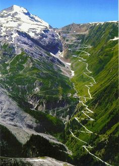 Voted best driving road in the world. STELVIO PASS in the Italian Alps is one of the highest mountain passes in all of Europe.