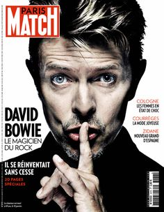 David Bowie en une de Paris Match n° 3478 du 14 janvier 2016.