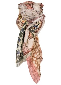 By Birdie Kashmir-silke tørklæde - Cashmere Silk Art Scarf - Art Of Terracotta Rose – Acorns