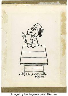 Original Comic Art:Illustrations, Charles Schulz Peanuts Treasury Dedication Page SnoopyIllustration Original Art (Holt, Rinehart, ...