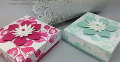 Papercraft With Crafty: All Boxed Up with Kinda Eclectic - Thove's Box 3 x 3 x1