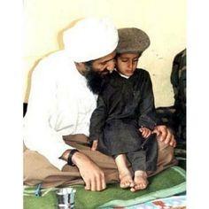 Osama bin Laden and his son Ali