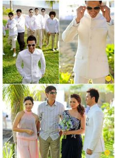 Barong coat Barong Tagalog Wedding, Barong Wedding, Filipiniana Wedding Theme, Wedding Tux, Wedding Attire, Dream Wedding, Groom Attire, Groom And Groomsmen, Filipino Wedding