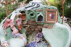 Cob Building 'The Lighthouse' – Mosaic Mermaid – Sculptural Garden ...