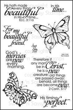 Sweet 'n Sassy Stamps - New Creature Clear Stamp Set, $15.00 (http://www.sweetnsassystamps.com/products/New-Creature-Clear-Stamp-Set.html)