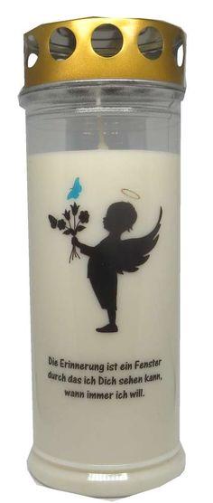 Grablicht Wochenbrenner Engel Junge Schmetterling