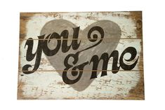 All you really need in life is true love. This Gray You & Me Wood Wall Sign gets you back to the heart of the matter! The hollow MDF piece features faux wood grain edges, a distressed gray background Pallet Crafts, Pallet Art, Pallet Signs, Diy Crafts, Burlap Crafts, Adult Crafts, Wooden Projects, Wooden Crafts, Diy Projects