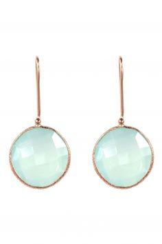 Chalcedony earrings via Jewelry Box, Jewelry Accessories, Jewellery, Gemstone Earrings, Drop Earrings, Aqua, Mint, Designer Earrings, Clothing Items