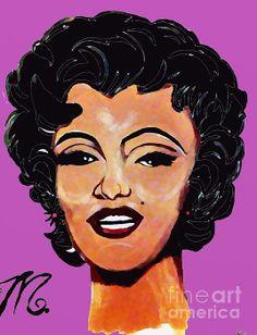 Marilyn Monroe Beautiful and Fierce:SaundraMylesart