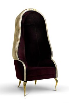 The Drapesse chair adds a bit of lavish and sensuous edge that only @koket can offer. This majestic piece is completed with lux velvet and metallic cream leather #interiordesign #koket #luxurydesigns #exclusivedesings