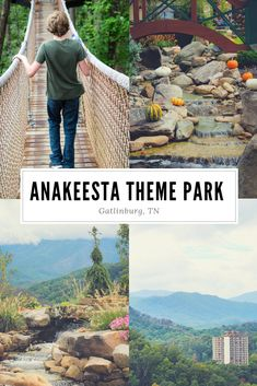 Anakeesta Gatlinburg TN - Did you know there is a new theme park in Gatlinburg? Anakeesta boasts beautiful mountain views, a long walk through the treetop canopies along rope bridges that have just the right amount of bounce, treehouses, and a Firefly Village. #travel #gatlinburg #themepark