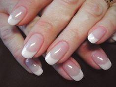french nails tips Black French Nails, French Acrylic Nails, Almond Acrylic Nails, French Manicures, Cute Nails, Pretty Nails, Fiberglass Nails, Natural Nail Designs, Nagel Hacks