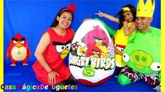 Huevo Sorpresa de Angry Birds Mas Grande del Mundo Disfraces Angry Birds...