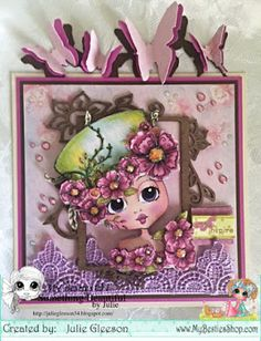 Something Beautiful By Julie 3d Cards, Cute Cards, Crafts To Do, Arts And Crafts, Create And Craft Tv, Pretty Green, Digi Stamps, Art Studies, Chipboard
