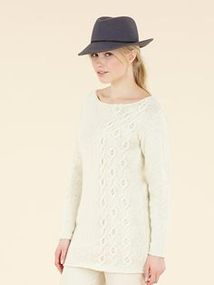 Design from Sublime Natural Aran Hand Knit Book (682) features 18 designs for women and girls using NEW YARN! Sublime Natural Aran (Made In England). - English Yarns