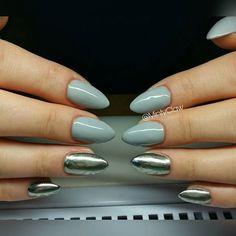 #paznokcie #nails #manicure #gelnails #mintyclaw #nailac #mırroreffect #lustro