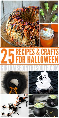 "Now, it seems that Halloween has become a full on holiday celebration... We've gathered 25 ""Boo"" tiful Halloween Recipes and Crafts and a lot more! Enjoy!"