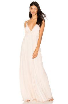 ANINE BING Chiffon Gown in Blush