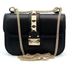 "Valentino ""DWB00312"" Black Leather Petite Shoulder Bag | Shirise.com"