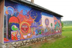 Wishes and dreams on the walls - Bodvalenke, the frescoe village of Hungary Bodvalenke is a tiny village in the north of Hungary, where almost all the inhabitants are Roma. Hungary, Budapest, Bugs, Painting, Art, Art Background, Beetles, Painting Art, Kunst