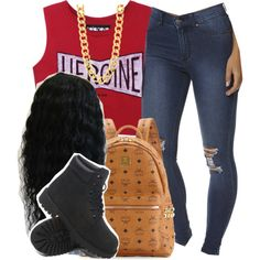 School by trillest-queen on Polyvore featuring mode, Cheap Monday, MCM and Timberland