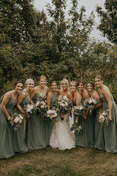 Hailey and Dalton's Backyard Wedding — Gina Paulson Photography Olive Green Weddings, Olive Wedding, Sage Green Wedding, Forest Wedding, Dream Wedding, Perfect Wedding, Wedding Ideas Green, Wedding Beach, Wedding Things