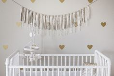They're Back! Neutral Lace Fabric Banner | Jane; these should be easy to make