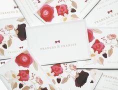Frances & Francis business cards