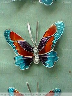 butterfly with glass paints