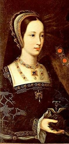 Mary Rose Tudor; detail from a portrait showing her with her husband, Charles Brandon, Duke of Suffolk.