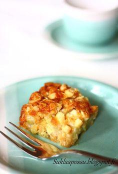 Kaurainen raparperipiirakka - Suklaapossu Home Bakery, Something Sweet, Food Art, Food Inspiration, Mashed Potatoes, Cauliflower, Macaroni And Cheese, Recipies, Deserts