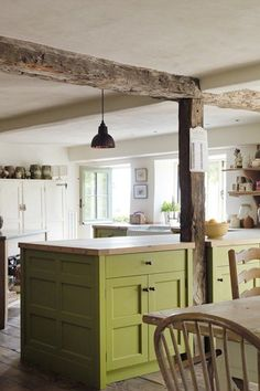 Green Kitchen Cabinets - Colored Kitchen Cabinet Ideas